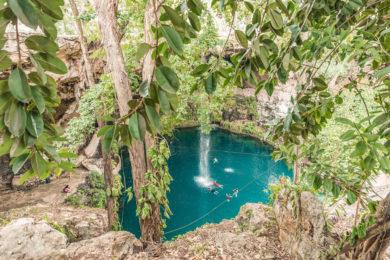 Cenote Zaci im Zentrum von Valladolid