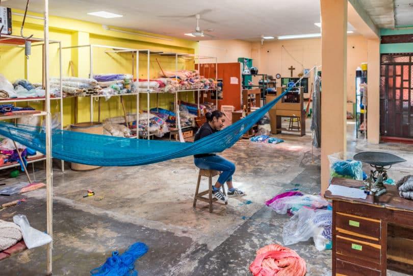 Hängematten in Tixkokob, Yucatán