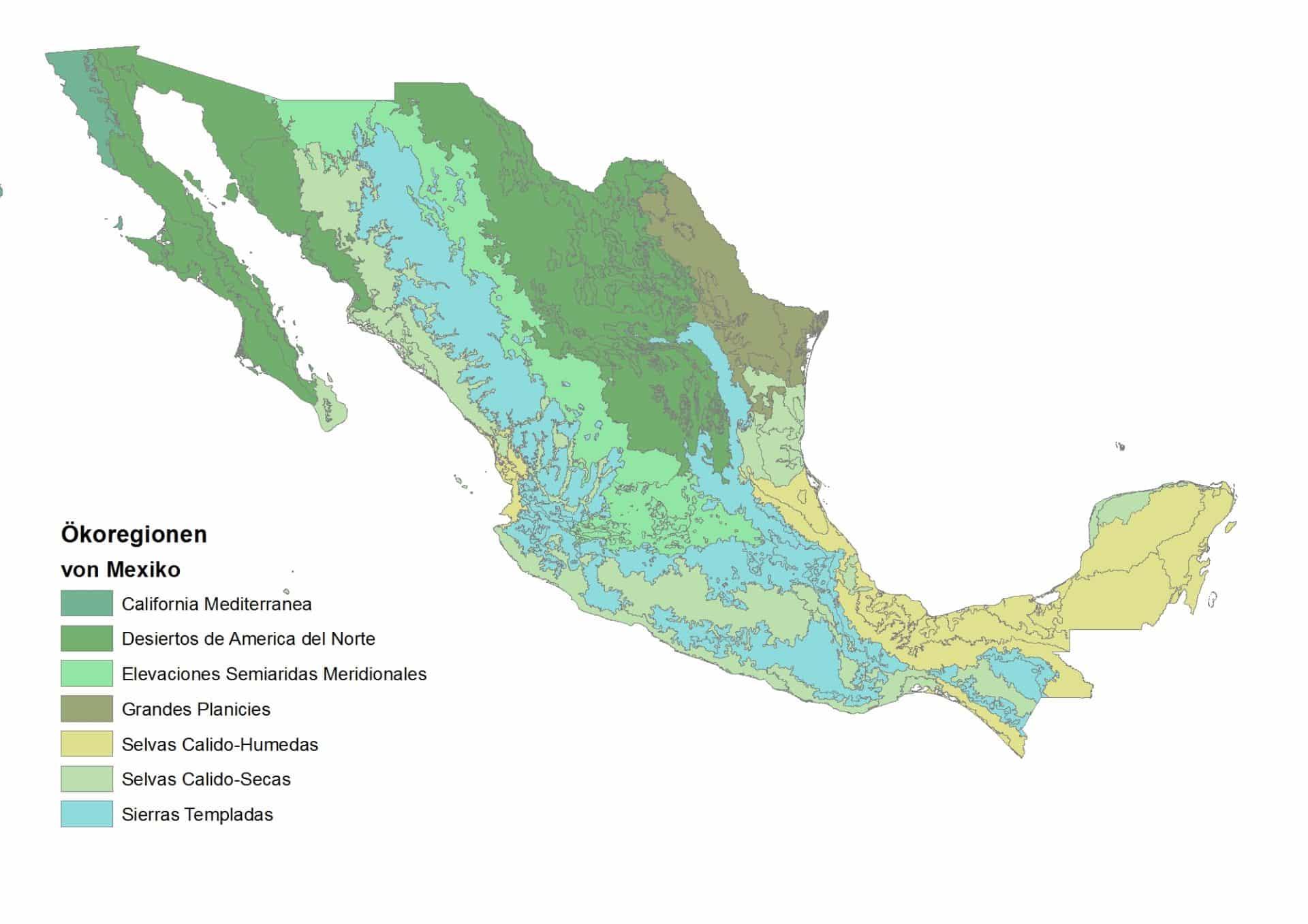 Biodiversität in Mexiko - Ökoregionen