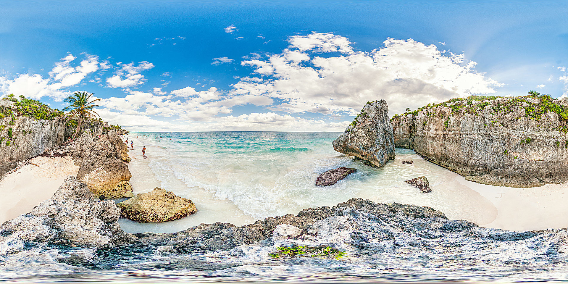 Der Strand von Tulum